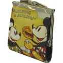 MONEDERO CON BOQUILLA MICKEY Y MINNIE MOUSE RETRO, EN OFERTA