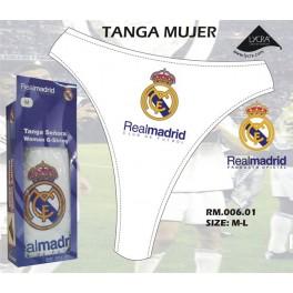 TANGA MUJER REAL MADRID. BLANCO. T: M OFERTA